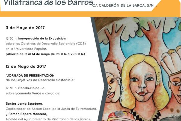 Cartel Presentación Jornadas ODS Villafranca de los Barros