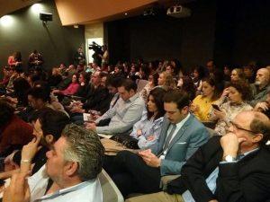 Público asistente a la presentación de los 17 objetivos para transformar el mundo.