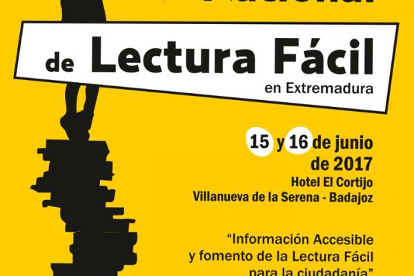 Cartel del V Encuentro Nacional de Lectura Fácil
